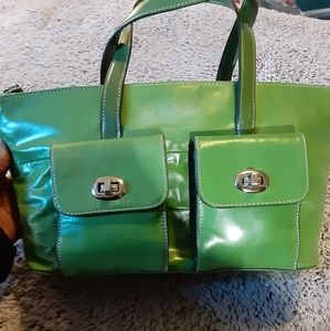 Gianni Bernini lime green tote
